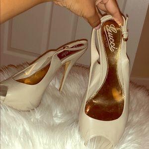 Gucci Peep toe sling back high heels